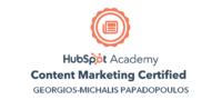 Hubspot Academy Content Marketing Certified